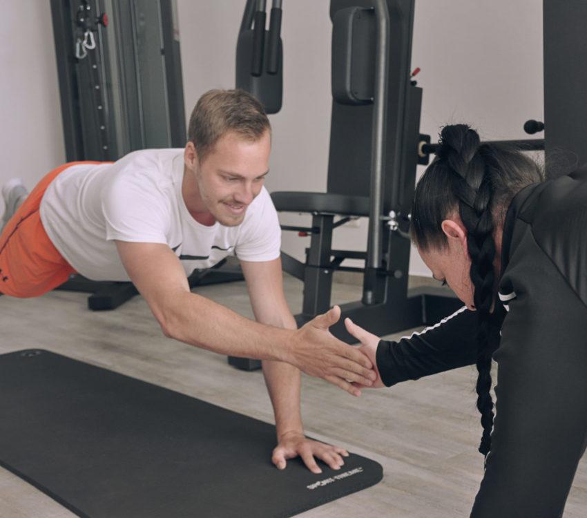Startpunkt Sporttherapie Therapie Rehabilitation Verletzung Muskelaufbau Ausdauertest Fitness Training Sport Mostviertel